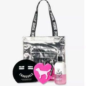 Victoria's Secret Pink Tote Mini Tote 4 Pc Set